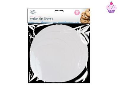 £2.98 • Buy Cake Tin Liners Non Stick Round Grease Proof Sheets Baking