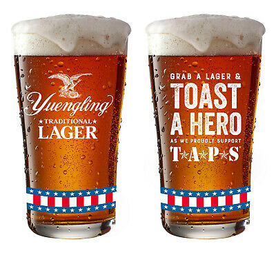$24.99 • Buy NEW (2) YUENGLING LAGER Toast A Hero TAPS Pint Beer Glass