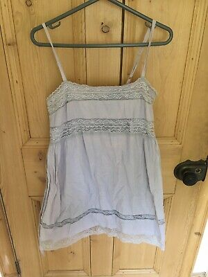 Topshop Lilac Summer Cami Dress. 10.Lace Detail. Button Back. Tie Detail. Lined. • 2.50£
