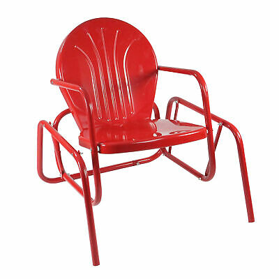 $133.74 • Buy Northlight Vibrant Red Retro Metal Tulip Outdoor Single Glider