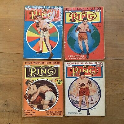 $39.99 • Buy The Ring Boxing Magazines 1938 4 Issues Vtg