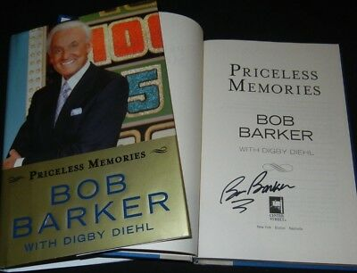 $69.99 • Buy BOB BARKER SIGNED Book  PRICELESS MEMORIES  CBS Price Is Right TV Host AUTOGRAPH