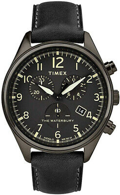 $182 • Buy Timex Waterbury TW2R88400 Men's Traditional Leather Strap 42mm Chronograph Watch
