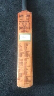 AU500 • Buy Sir Donald Bradman Signed Bat With Certificate Of Authenticity