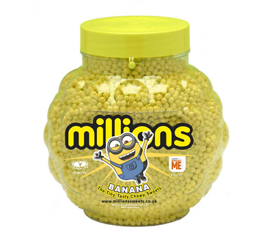 £12.83 • Buy Millions - Minion Banana Flavour - 500g, 1kg Or 2.27kg Jar - Chewy Sweets Yellow