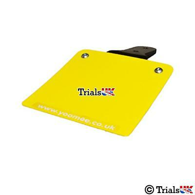 Yoomee Flexible Plain Yellow Rear Number Plate Board - Trials/Trail/Enduro • 15.98£