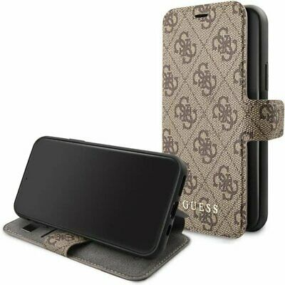 Genuine GUESS 4G Collection Stand Book Case For IPhone 11 In Brown • 25.95£