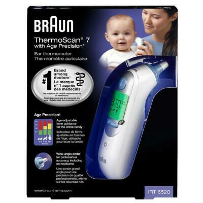 AU101.93 • Buy Braun IRT6520 Thermoscan 7 Ear Thermometer W/ 40 Lens Filter - Age Adjustable