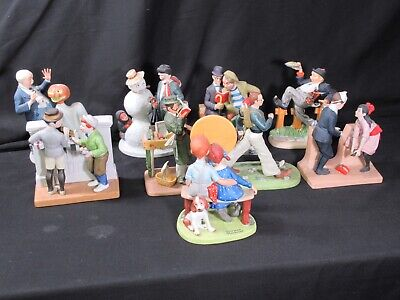 $ CDN170.17 • Buy Lot Of 11 The 12 Norman Rockwell Porcelain Figurines Large 1980 Excellent Cond