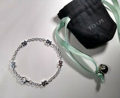 $31 • Buy Authentic TOUS 925 Sterling Silver Bear Bracelet With Pouch