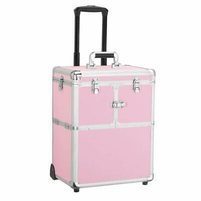 $84.99 • Buy Yaheetech Professional Rolling Makeup Case Pink Artist Travel Portable 591649