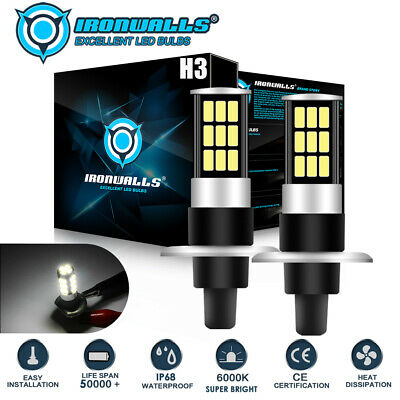 AU27.16 • Buy H3 12V 60W Xenon White 6000K Light Fog Car Headlight Lamp Globes Bulbs LED HID