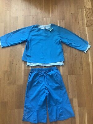 Marese Blue Top And Trousers Girls Aged 4-5 • 3£