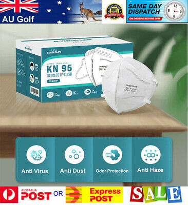 AU49.95 • Buy N95 KN95 Mask Face Masks Reusable Disposable Anti Dust Respirator Filter X 10