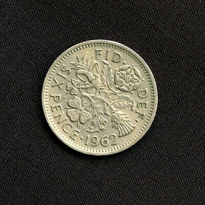 1962 Sixpence Coin Queen Elizabeth II Great Britain UK Vintage  • 2.29£