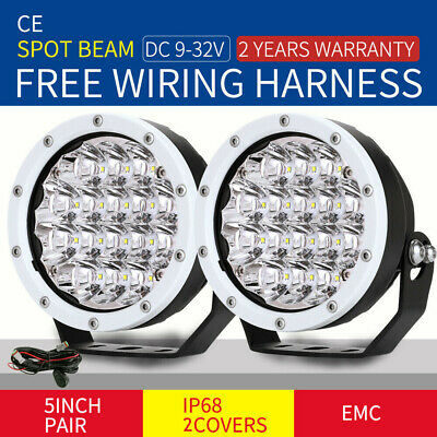AU72.97 • Buy NEW 5inch OSRAM White LED Driving Lights Pair Spotlights Headlight Truck Offroad