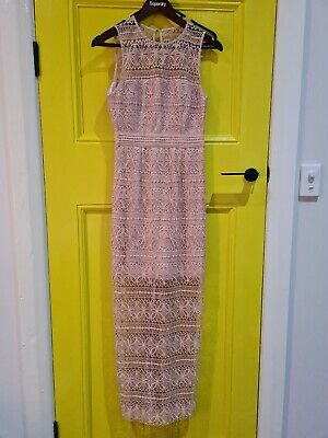 AU17 • Buy Forever New Size 6 Dress Lace Pink