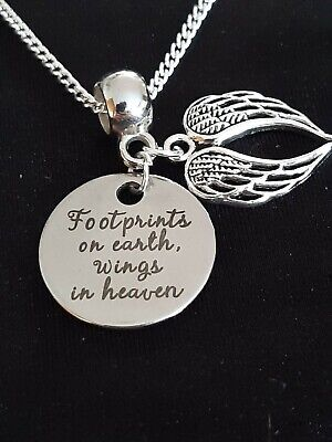£6.99 • Buy Baby Memorial Charm Baby Loss/ Miscarriage/grief Sterling Silver Necklace Gift