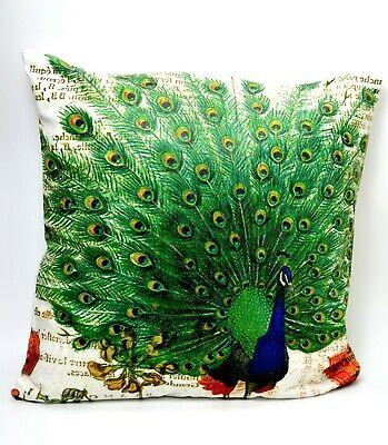 Cushion Pillow Case Cover Peacock Animal 18'*18' Home Decoration Fast UK Stock  • 3.99£