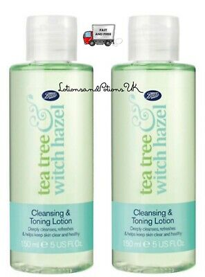 £13.95 • Buy Boots Tea Tree And & Witch Hazel CLEANSING AND TONING LOTION 150ML - 2 PACK
