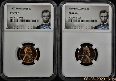 $39.95 • Buy 1960 Small Date Proof With Lincoln Label Cent Ngc Pf 67 Rd