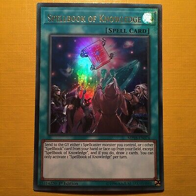 AU10.74 • Buy Spellbook Of Knowledge - YuGiOh - Ultra Rare - MP18 - 1st Edition - Mint Card!