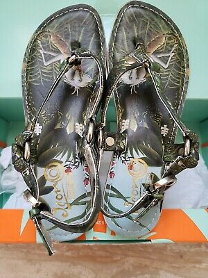 NWT Icon Jungle Flat Thong Sandals Size 7 • 39.80£