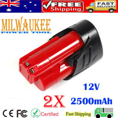 AU25.98 • Buy 2x M12B Li-ion For Milwaukee 2.5AH 12V Battery 48-11-2401 48-11-2402 48-11-2440
