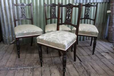 AU398.65 • Buy A Gorgeous Set Of Four Art Nouveau Dining Chairs - Recently Upholstered