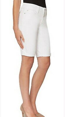 $19.99 • Buy Not Your Daughters Jeans NYDJ Tummy Tuck White Shorts Size 4