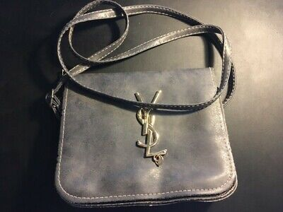 AU342 • Buy YSL- Yves Saint Laurent Clutch Bag Leather Grey Colour Authentic - Hardly Used