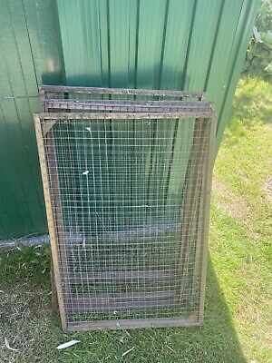 Wire Mesh Wood Fence Panels For Avery/coop/rabbit Run • 6£