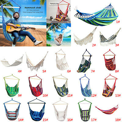 Hanging Bed Hammock Chair Portable Garden Swing Seat Tree Outdoor Travel Camping • 36.18£