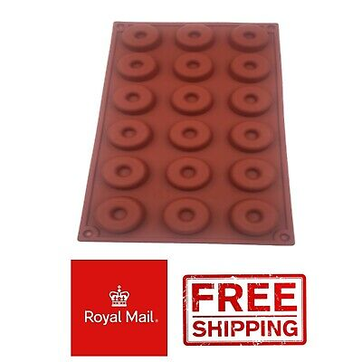 AU7.18 • Buy 18 Mini Donut Silicone Mould Chocolate Mold Baking Doughnuts Tray Wax Melts Ice