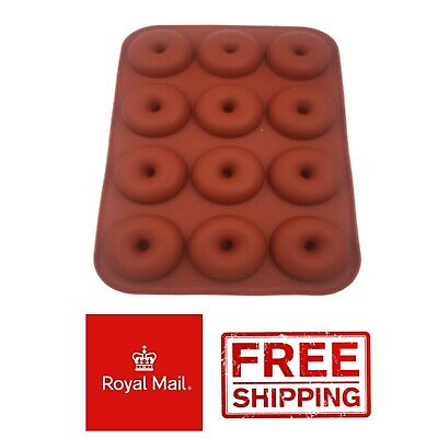 £3.49 • Buy 12 Mini Donut Silicone Mould Chocolate Mold Baking Doughnuts Tray Wax Melts Ice