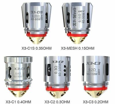 100% Authentic IJoy Captain X3-C1 X3-C2 X3-C3 X3-C1s X3-Mesh Replacement Coils • 11.49£