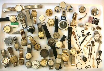 $ CDN70.40 • Buy Huge Batch Lot Vintage Watches For Parts, & Screws, Gears, Accessories & More!!