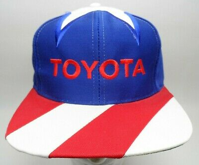 $ CDN103.67 • Buy Vintage TOYOTA Kati Supreme Mens Snapback Hat Red Blue And White Star Toyota Cap