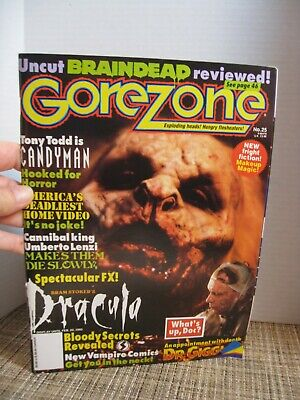 $9.29 • Buy Gorezone #25 - Special 1992 - Candyman, Bram Stoker's Dracula - Pull-out Posters