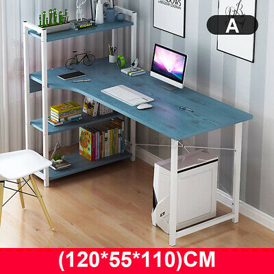 AU114.99 • Buy Computer Desk Table Laptop Display W/ 4 Tier Bookshelf Study Writing Home Office