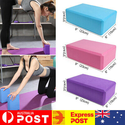 AU12.99 • Buy 1/2Pcs Gym Sport Tool Foaming Yoga Fitness Practice Block Brick Home Exercise