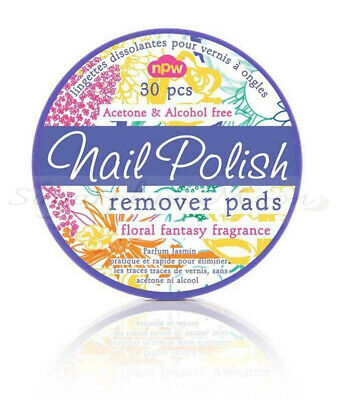 Nail Polish Remover Wipes Pads - Acetone Alcohol Free - Floral Scented - NPW • 3£