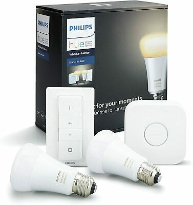 AU129 • Buy Philips Hue White Ambiance Smart Bulb Starter Kit Google Assistant Amazon Alexa