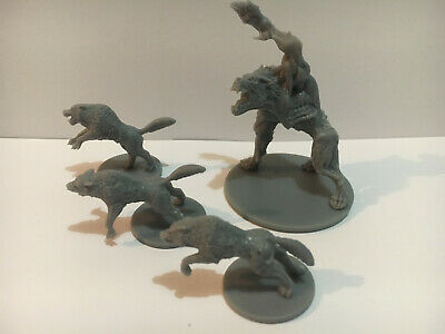 AU15.95 • Buy Zombicide Wulfsburg Wolf Abomination And 3 Extra Wolves From The KS Huntsman Box
