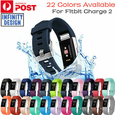 AU5.65 • Buy Fitbit Charge 2 Silicon Sports Band Replacement Wristband Watch Strap Bracelet