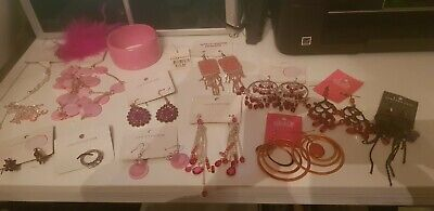 AU29.99 • Buy Unwanted Jewellery Lot Deal 12. All New Bag Full Of Pink Jewellery FREE GIFT