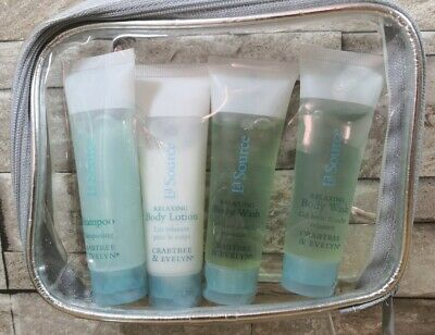 Crabtree And Evelyn La Source Gift Travel Set Shampoo Lotion Body Wash Brand Enw • 7.99£
