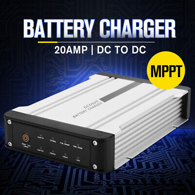 AU169.99 • Buy 12V 20A DC To DC Battery Charger MPPT Dual Battery System Kit Isolator Solar
