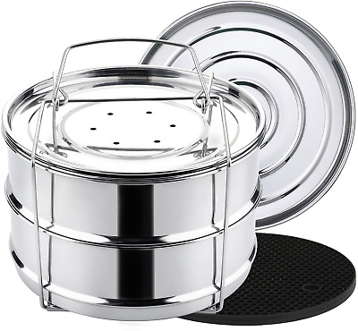 $53.99 • Buy Stackable Instant Pot Accessories - Instapot Accessory Insert Pans Ultra For Veg