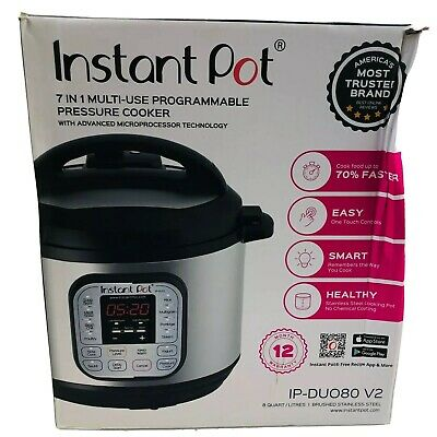 $49.95 • Buy Instant Pot DUO80V2 8 Quart 7-in-1 Multi-Use Programmable Pressure Cooker - EUC